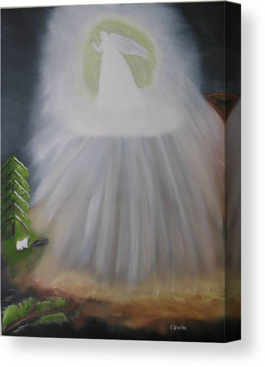 Angels Canvas Print featuring the painting The Lost Sheep by Edwin Long