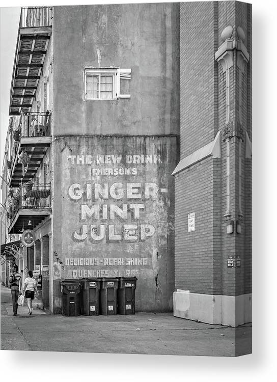 Nola Canvas Print featuring the photograph The New Drink Monochrome by Steve Harrington