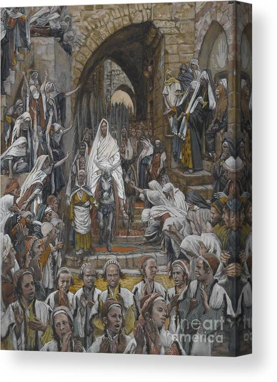 Tissot Canvas Print featuring the painting The Procession In The Streets Of Jerusalem by Tissot