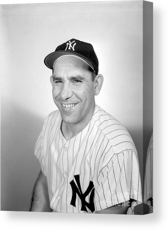 People Canvas Print featuring the photograph New York Yankees 1 by Olen Collection