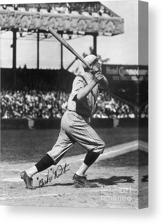 Following Canvas Print featuring the photograph National Baseball Hall Of Fame Library 197 by National Baseball Hall Of Fame Library