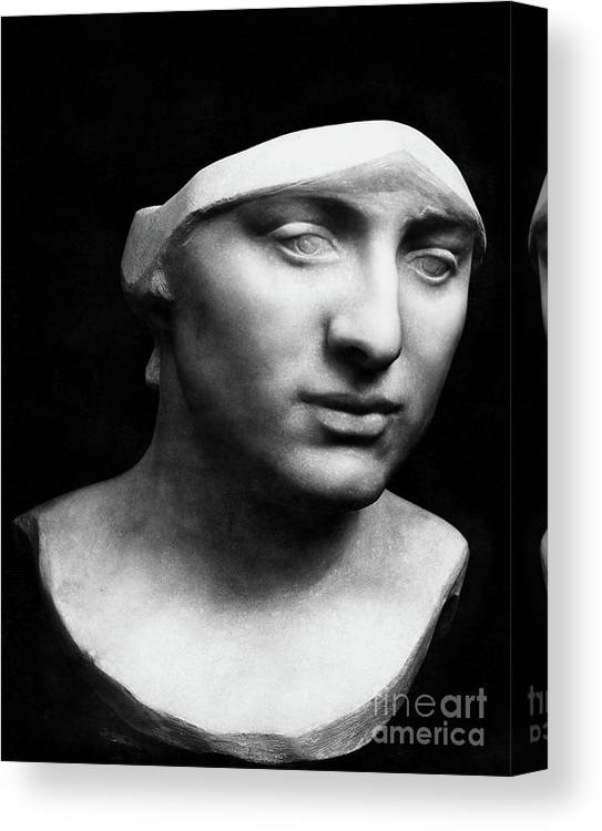 Minerva Canvas Print featuring the sculpture Minerva Without Helmet, 1896 by Rodin