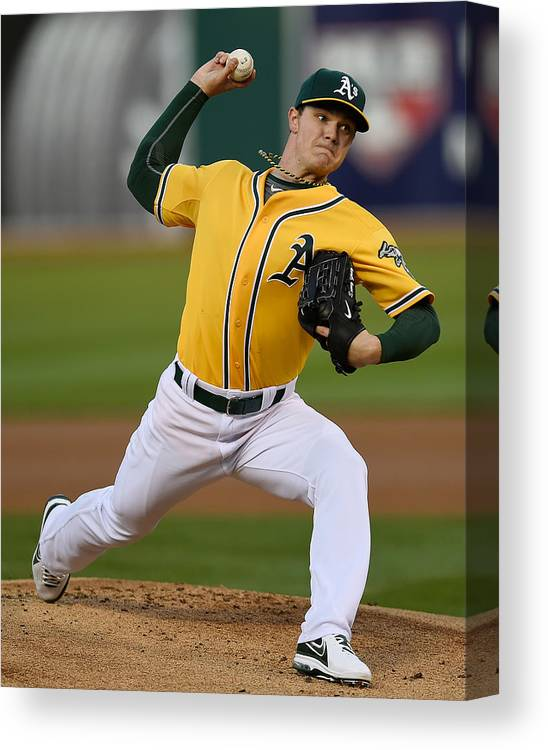 American League Baseball Canvas Print featuring the photograph Sonny Gray by Thearon W. Henderson
