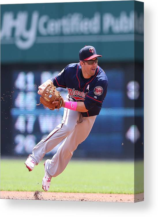 Second Inning Canvas Print featuring the photograph Brian Dozier by Leon Halip