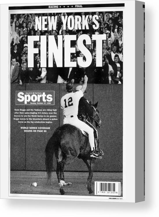 Horse Canvas Print featuring the photograph Wade Boggs by New York Daily News Archive