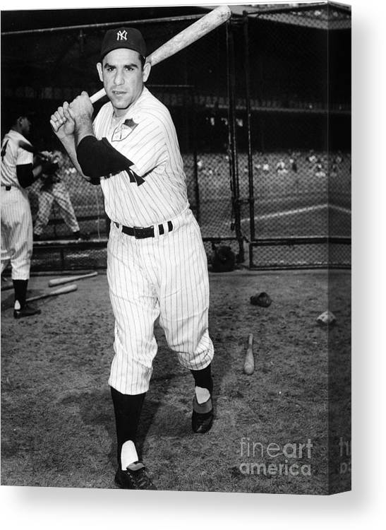 People Canvas Print featuring the photograph Yogi Berra by National Baseball Hall Of Fame Library