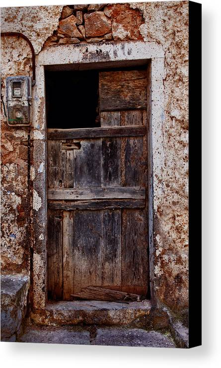 Old Canvas Print featuring the photograph Traditional Door by Emmanouil Klimis