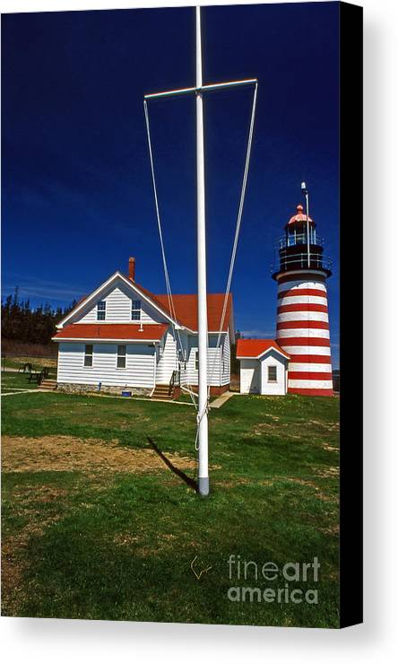 Lighthouses Canvas Print featuring the photograph West Quoddy Lighthouse by Skip Willits