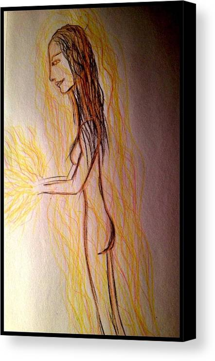 Woman Canvas Print featuring the photograph Art Therapy 189 by Michele Monk