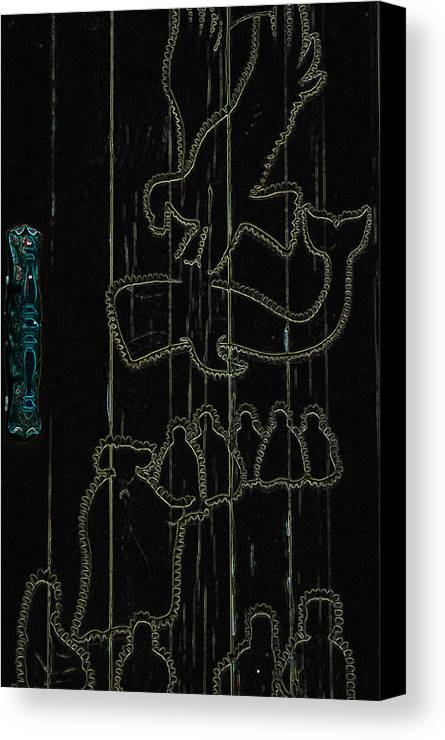 Carving Canvas Print featuring the mixed media Aura's Abound by Travis Crockart