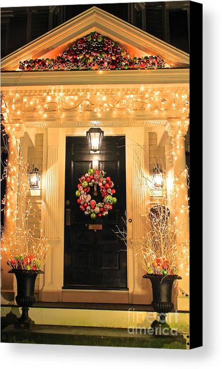 Christmas Canvas Print featuring the photograph Christmas Card by Amazing Jules