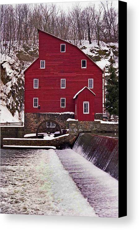 Mill Canvas Print featuring the photograph Clinton Mill by Skip Willits