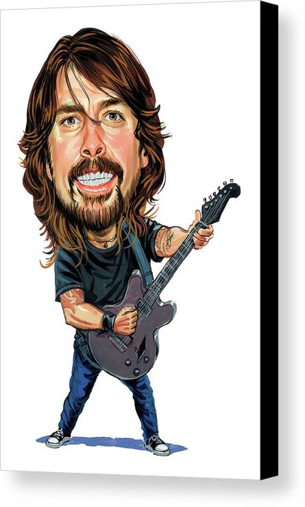 Dave Grohl Canvas Print featuring the painting Dave Grohl by Art