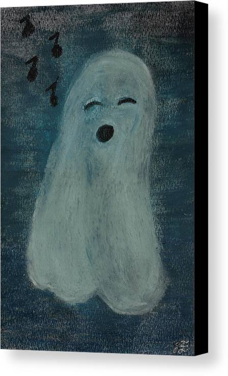 Ghost Canvas Print featuring the pastel Ghostly Serenade by Jessica Foster