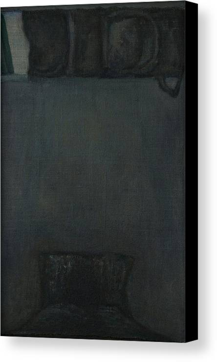 Bed Canvas Print featuring the painting Go Or Stay by Oni Kerrtu