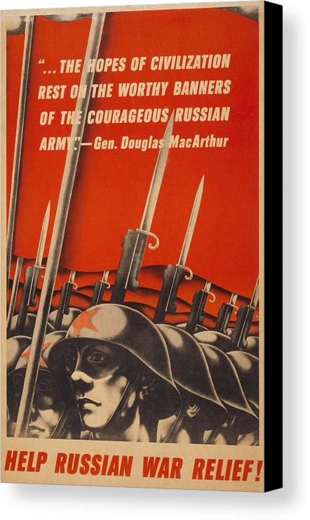 History Canvas Print featuring the photograph Help Russian War Relief American World by Everett