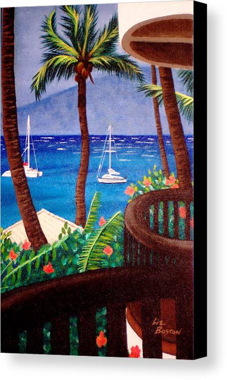 Hawaii Canvas Print featuring the painting Maui by Liz Boston