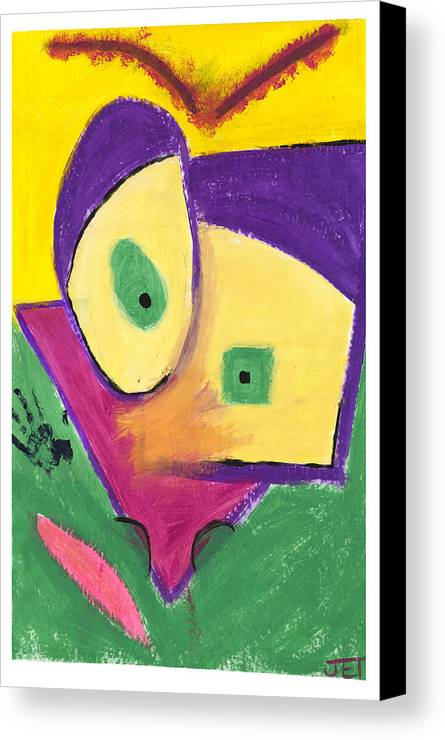 Random Canvas Print featuring the painting Something Random With Natural Borders by Joelle Tanguay