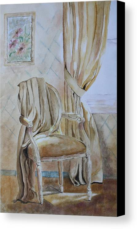 Interior Still Life Canvas Print featuring the painting Sunlit Afternoon by Patsy Sharpe
