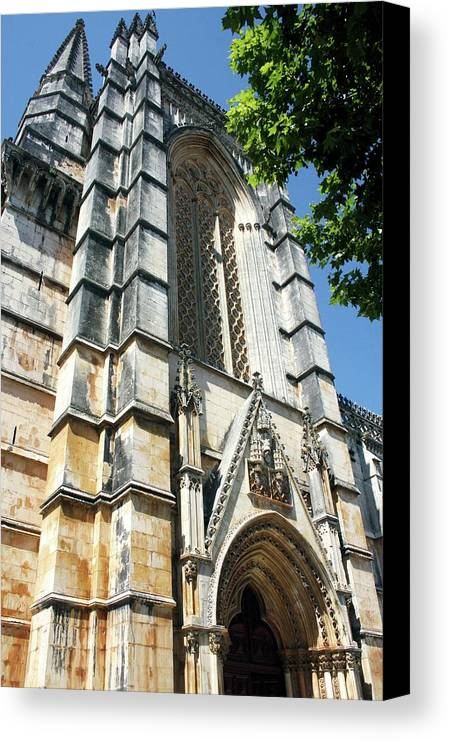 Architecture Canvas Print featuring the photograph Batalha Monastery by Raquel Daniell