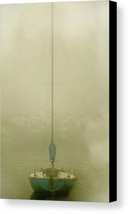 Sailboat Canvas Print featuring the photograph Alone by Clyde Replogle