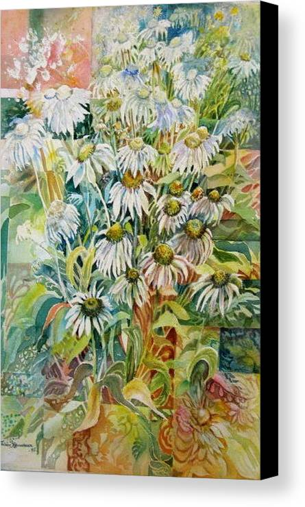 Art Canvas Print featuring the painting Chamomile by Therese AbouNader