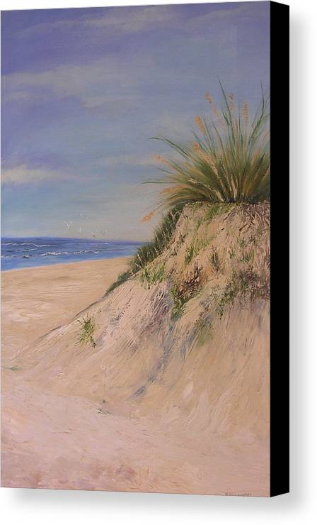 Dune Canvas Print featuring the painting Chesapeake Bay Dune by Barbara Harper
