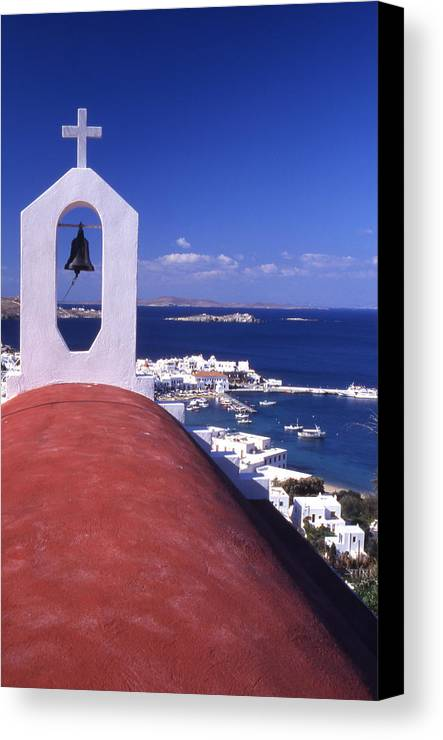 Church Canvas Print featuring the photograph Greece. Mykonos by Steve Outram