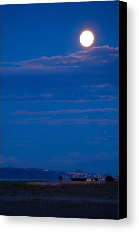 Moon Canvas Print featuring the photograph Harvest Moon by Paul Kloschinsky
