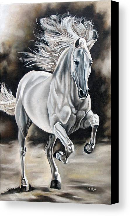 Horse Canvas Print featuring the painting Hereje by Ilse Kleyn
