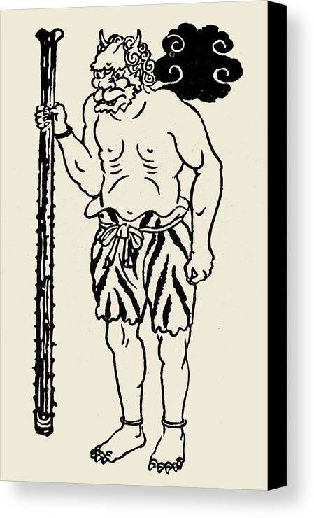 Buddhism Canvas Print featuring the photograph Japanese Folklore: Oni by Granger
