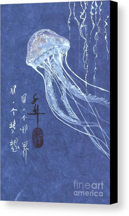 Jelly Fish Canvas Print featuring the painting Jelly Fish by Linda Smith