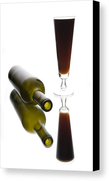 Bottles Canvas Print featuring the photograph Libation 2 by Patrick Ziegler