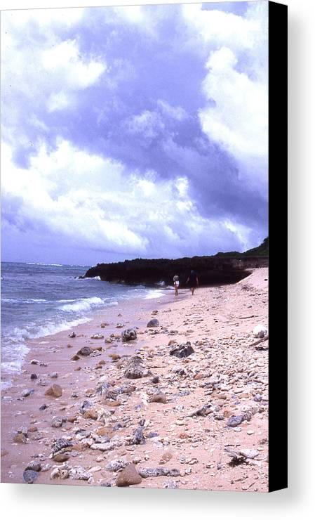 Okinawa Canvas Print featuring the photograph Okinawa Beach 15 by Curtis J Neeley Jr