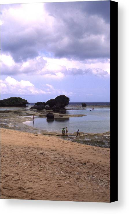 Okinawa Canvas Print featuring the photograph Okinawa Beach 3 by Curtis J Neeley Jr