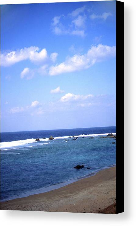 Okinawa Canvas Print featuring the photograph Okinawa Beach 7 by Curtis J Neeley Jr