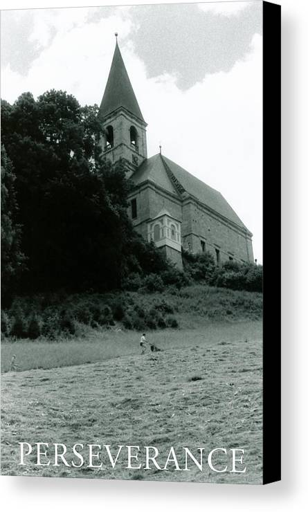 Church Canvas Print featuring the photograph Perseverance by Michelle Calkins