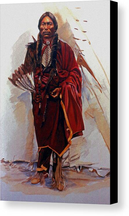 Painting Canvas Print featuring the painting Quannah Parker by Harvie Brown