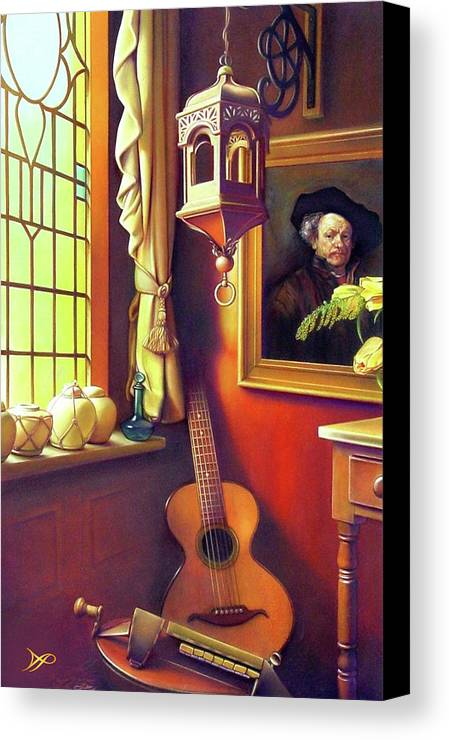 Rembrandt Canvas Print featuring the painting Rembrandt's Hurdy-gurdy by Patrick Anthony Pierson