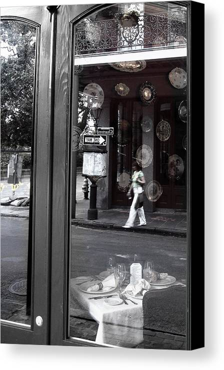 New Orleans Canvas Print featuring the photograph Restaurant Window by Todd Fox