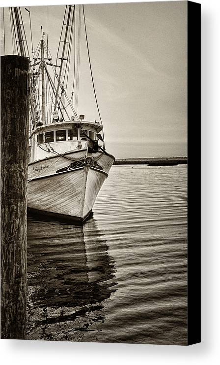 Boat Canvas Print featuring the photograph Shrimpin' Boat IIi by Brian Mollenkopf