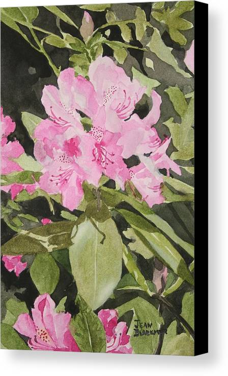 Flowers Canvas Print featuring the painting Spring At The Cabin by Jean Blackmer