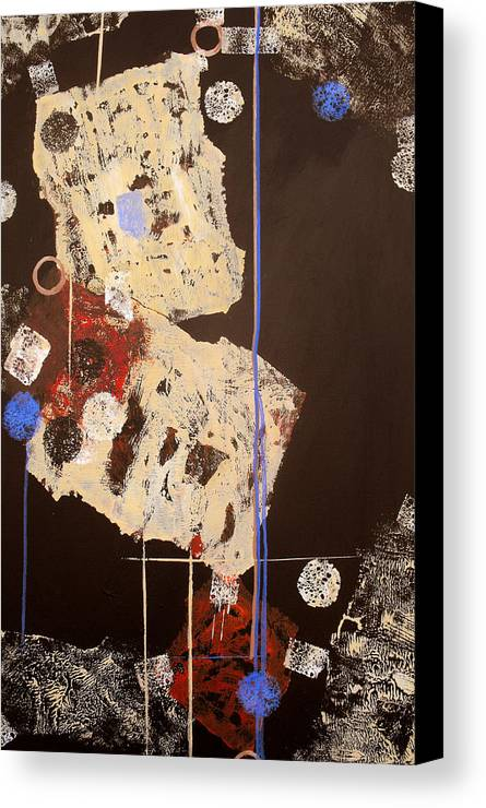Abstract Canvas Print featuring the painting Teeter by Ruth Palmer