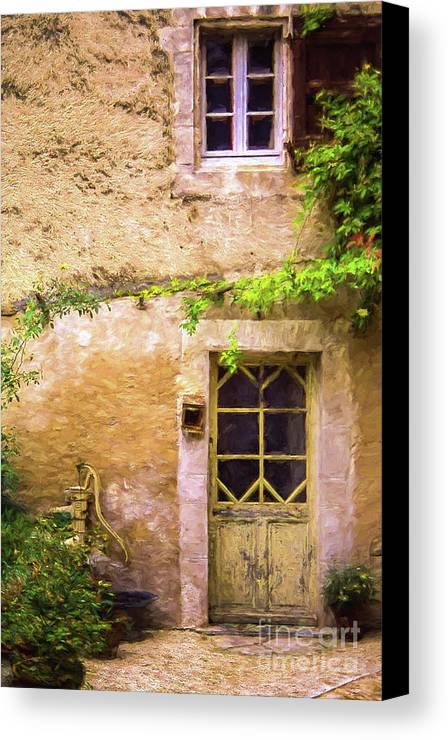 Door Canvas Print featuring the photograph The Doorway To Provence by Robert Brown