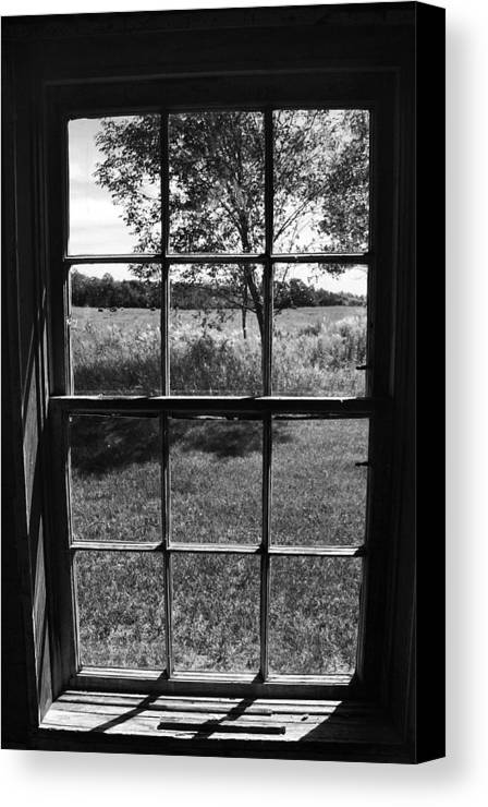 Window Canvas Print featuring the photograph View To Yesterday by Joanne Coyle