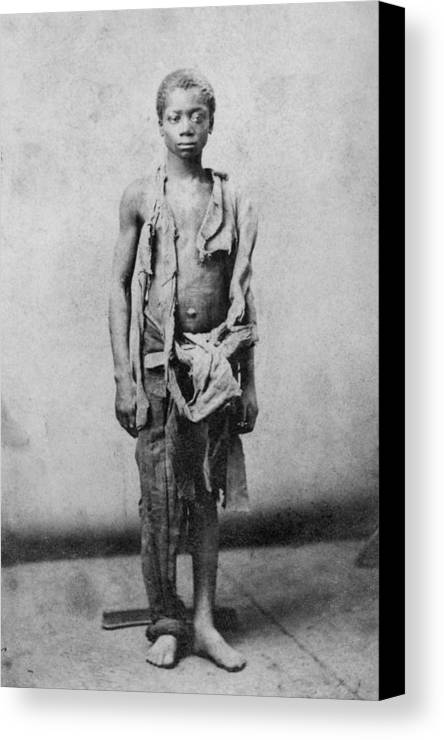 History Canvas Print featuring the photograph Young Slave During The Civil War by Everett