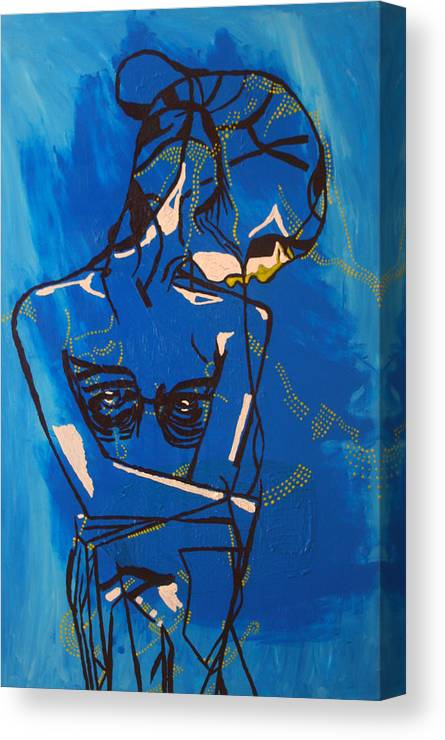 Jesus Canvas Print featuring the painting Dinka Painted Lady - South Sudan by Gloria Ssali