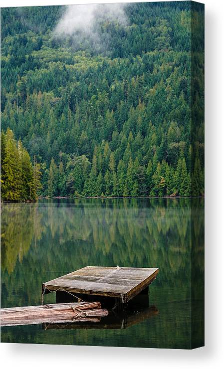 Lake Canvas Print featuring the photograph Egmont Bc by Mike Penney