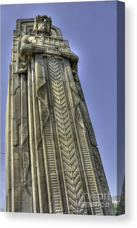 Cleveland Ohio Canvas Print featuring the photograph Traffic Guardian by David Bearden