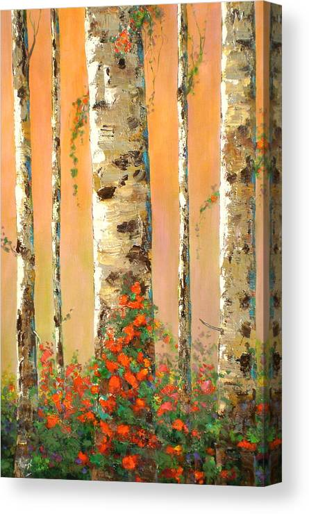 Marilynhurst Canvas Print featuring the painting Early Morning by Marilyn Hurst